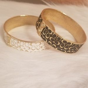 Coach Jewelry - 2 Authentic Coach Bangles